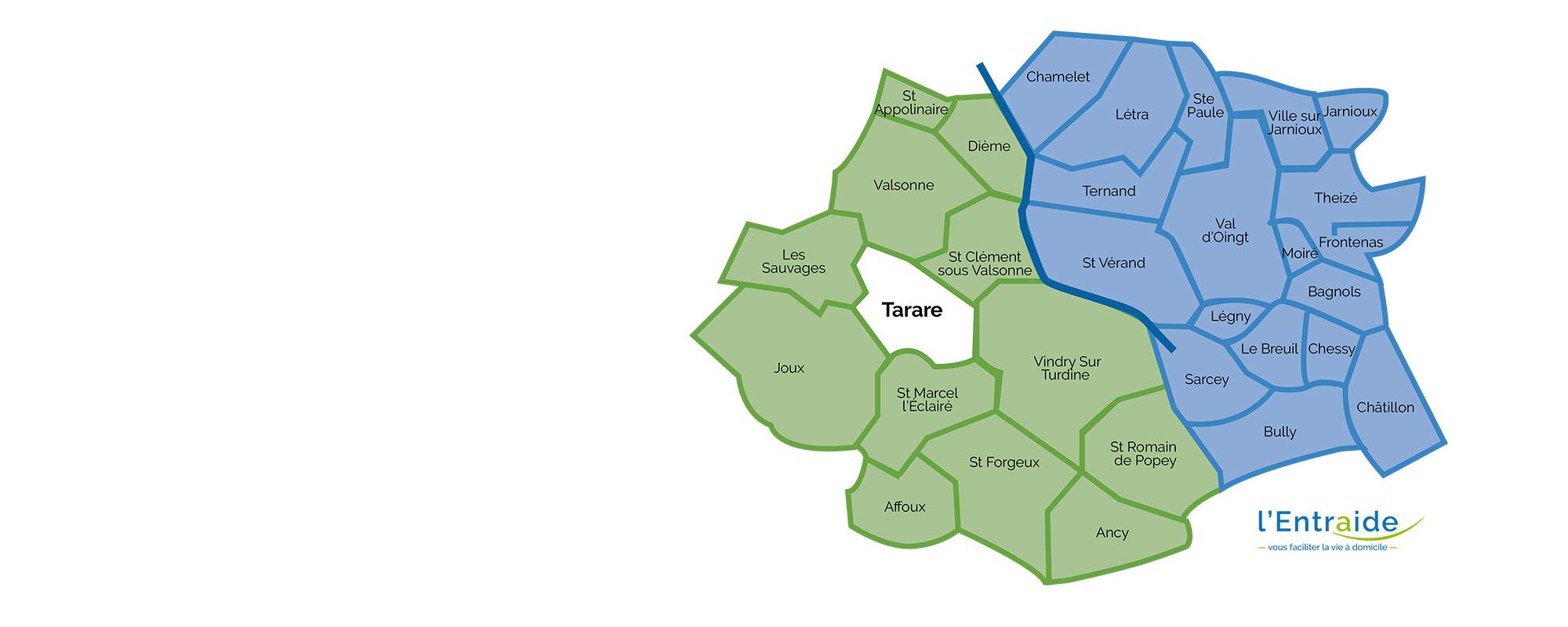 <strong>Liste des communes</strong> <br />où intervient L'Entraide.